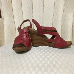 Franco Sarto Red Wedges